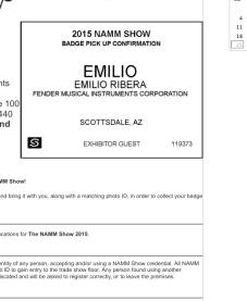 Pase Namm Emilio